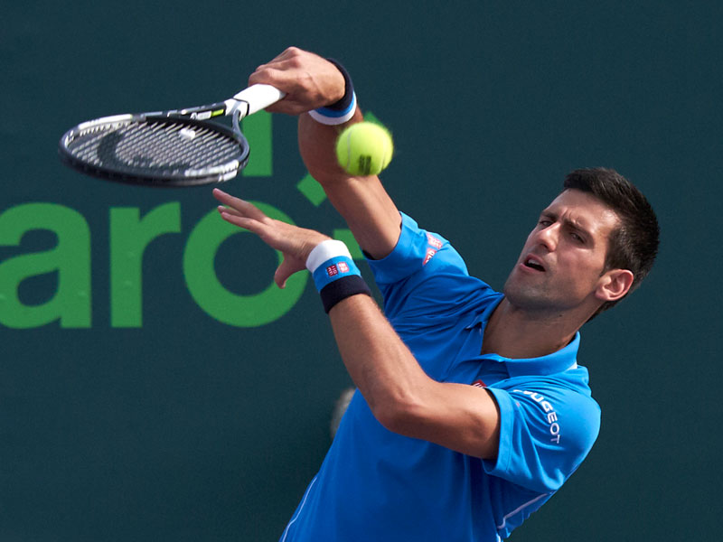 Novak Djokovic is the current dominant player in men's tennis because he has the greatest balance technique, physical ability and mental conditioning in the game.
