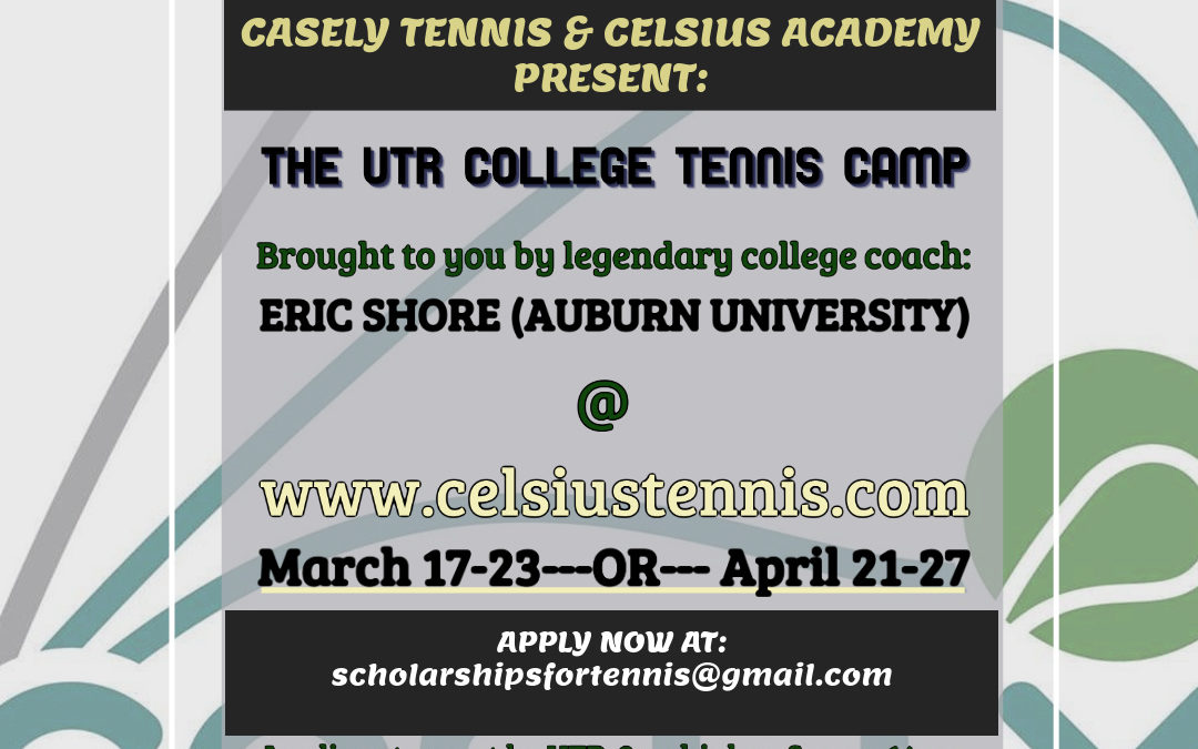 College Style Spring Tennis Camp April 21-27, 2019